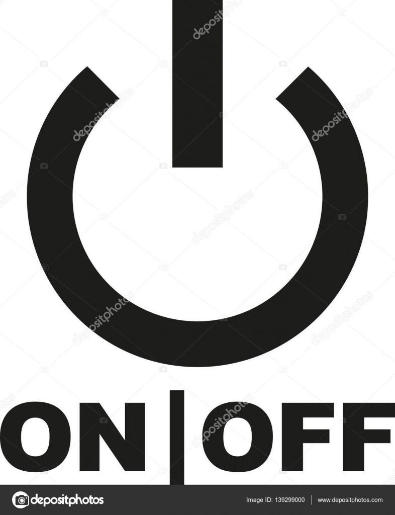 Power-Taste mit ein- und Ausschalten Zeichen — Stockvektor ...