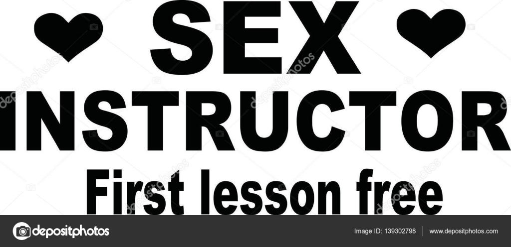 Sex instructor - first lesson free — Stock Vector