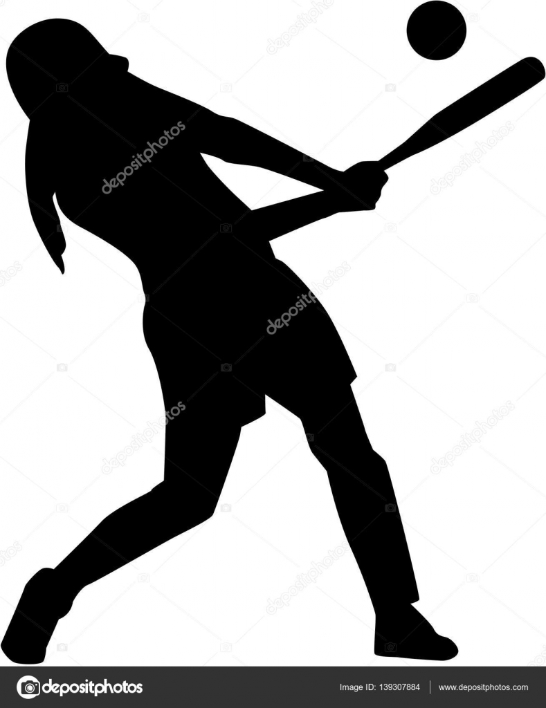 Softball-Teig-Frauen-silhouette — Stockvektor © miceking #139307884