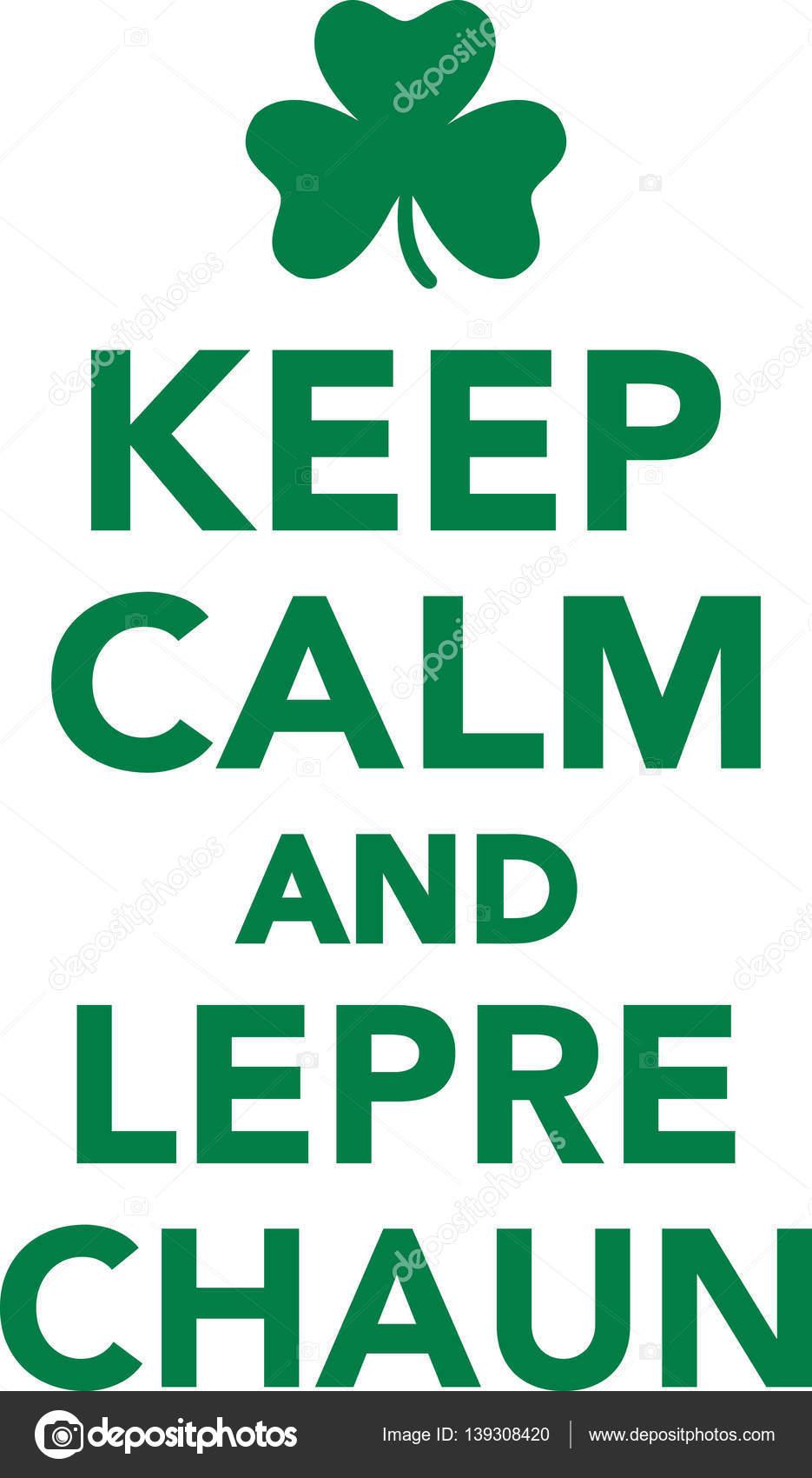 keep calm and leprechaun stock vector miceking 139308420 rh depositphotos com keep calm vector generator keep calm vector generator