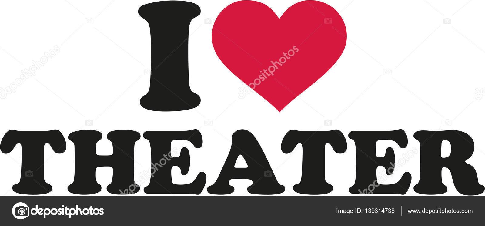 Ich liebe Theater — Stockvektor © miceking #139314738