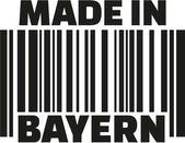 Fotografie Made in Bayern-Barcode-Deutsch