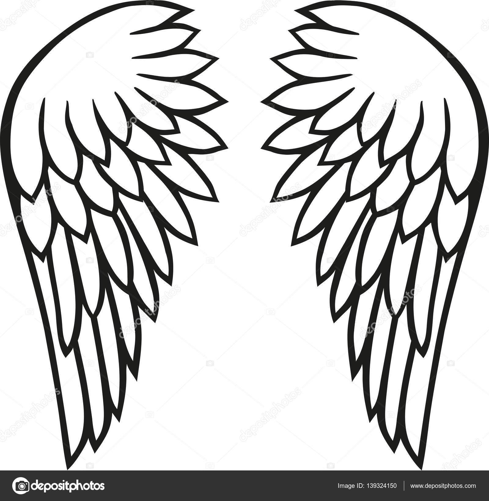 angel wings vector stock vector miceking 139324150 rh depositphotos com angel wings vector png angel wings vector free