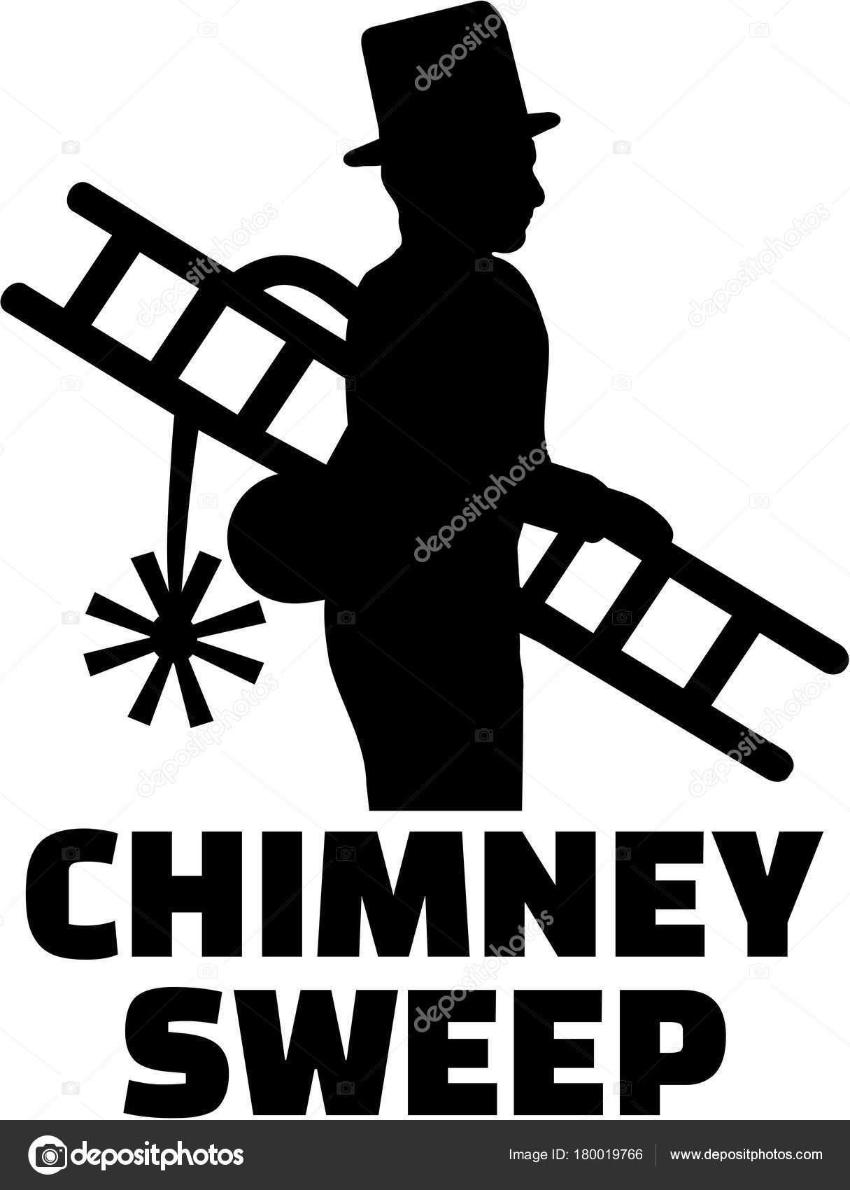 chimney sweep silhouette with job title stock vector miceking rh depositphotos com Free Vector Graphics Tree Vector