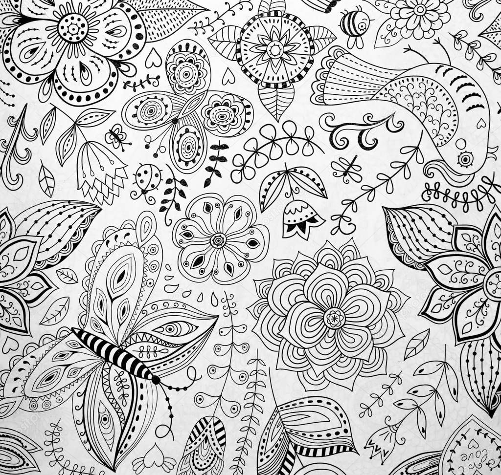 coloring pages for adults u2014 stock photo puhimec 129529442