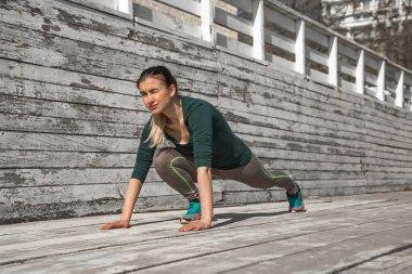 Fitness sporty girl