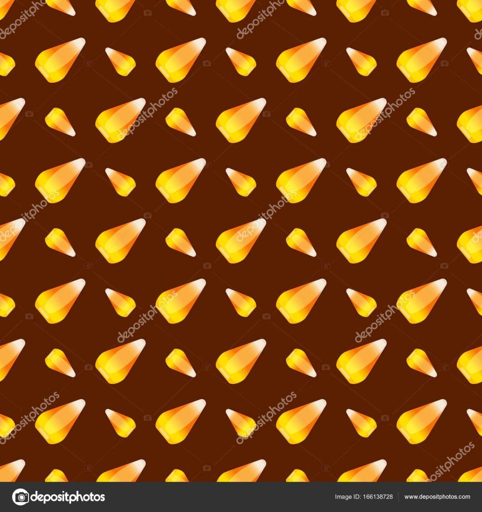Halloween candy maíz sin fisuras patrón vector fondo vacaciones ...