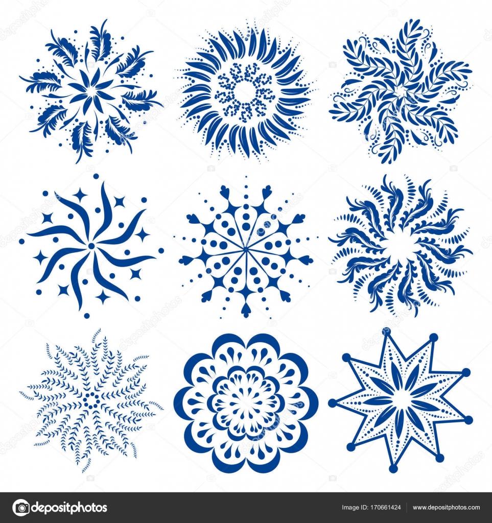 Conjunto de adornos redondos de mandalas coloridos vector o los ...