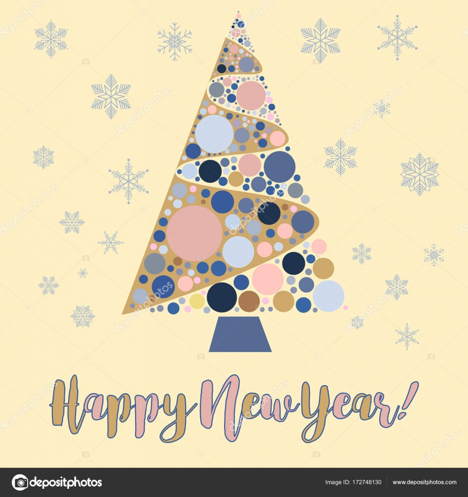 happy new year background snowflake winter design season december snow celebration ornament vector illustration