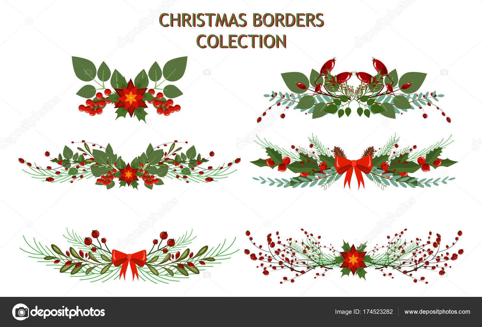 Guirnalda de vacaciones de Navidad árbol rama decoración Marco ...