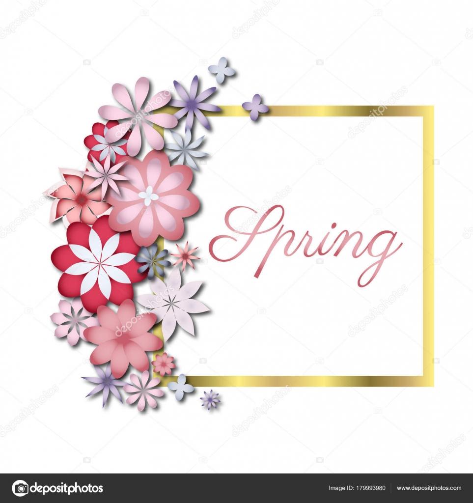 Hochzeit Oder Geburtstag Einladung Fruhling Blume Feier Karte Vektor