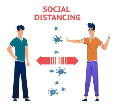Social Distancing Free Vector Eps Cdr Ai Svg Vector Illustration Graphic Art