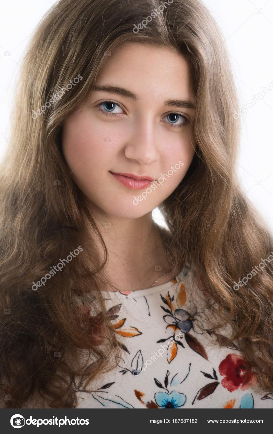 Mujeres Lindas De Ojos Claros Primer Plano Retrato Mujer