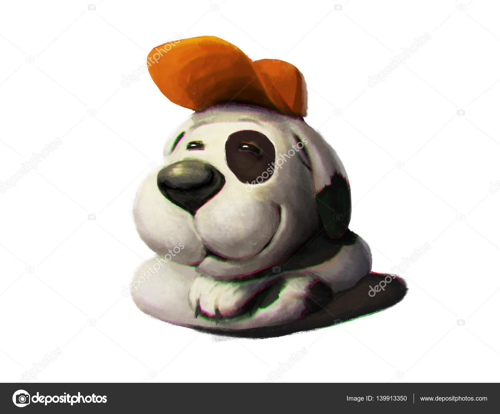 Bianco e nero buffo cane con volto amichevole for Bloccare i piani domestici