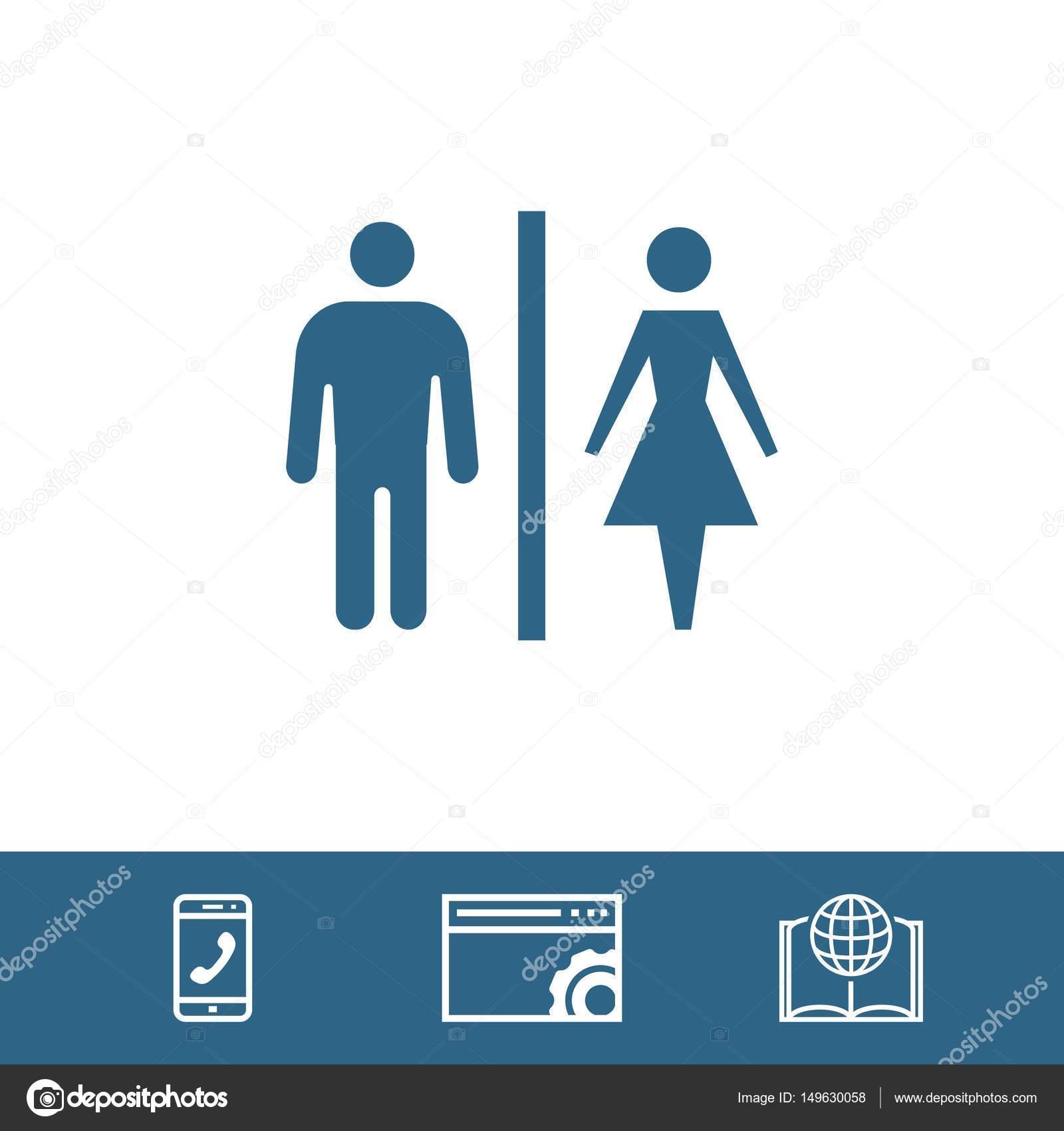 baño hombre mujer icono stock vector ilustración diseño plano