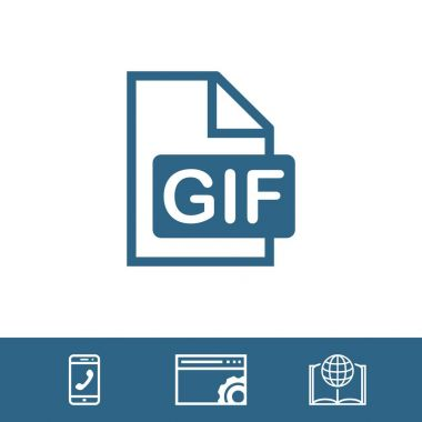 gif icon stock vector illustration flat design