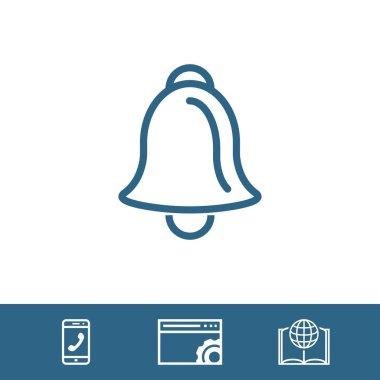 Bell icon stock vector illustration flat design