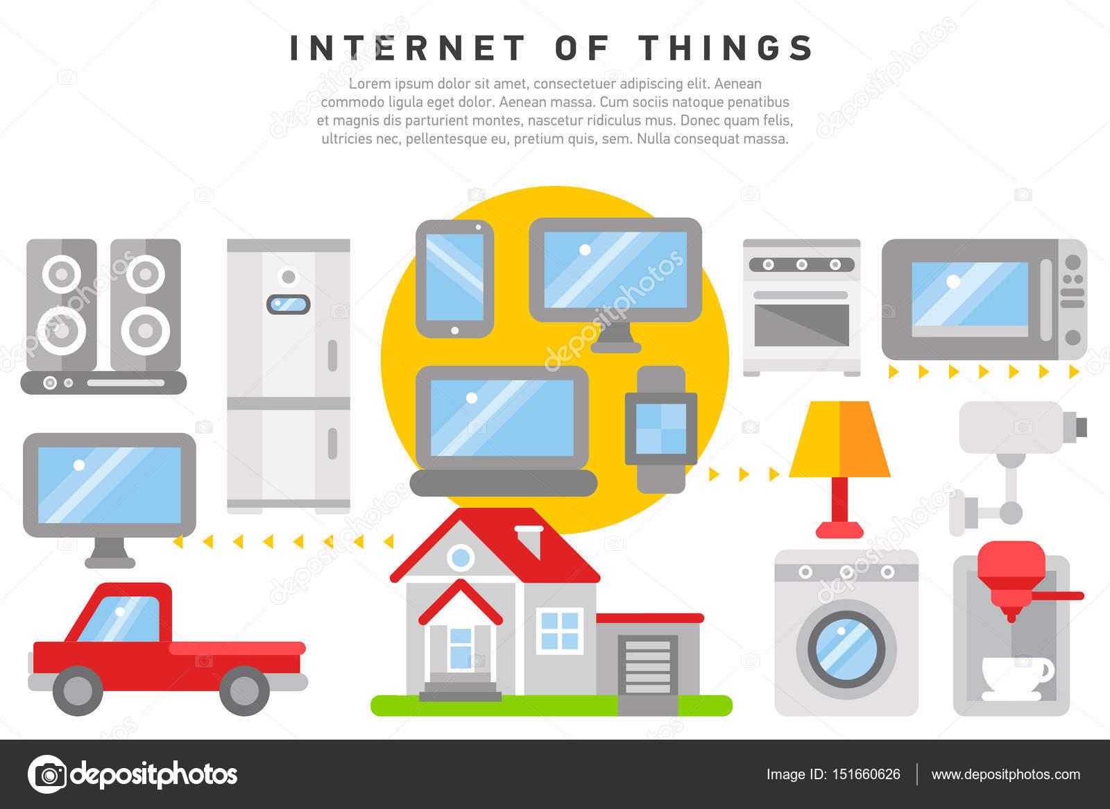 Internet der Dinge Iot nach Hause — Stockvektor © oxygen_8 #151660626