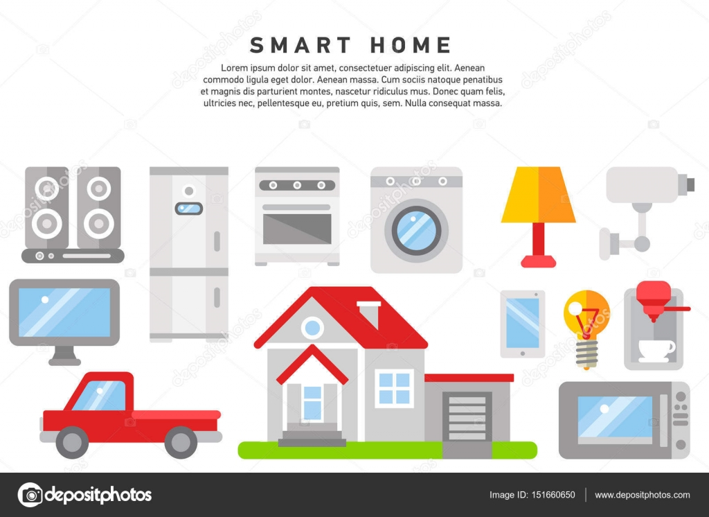 smart home iot internet of thing stock vector oxygen 8 151660650. Black Bedroom Furniture Sets. Home Design Ideas