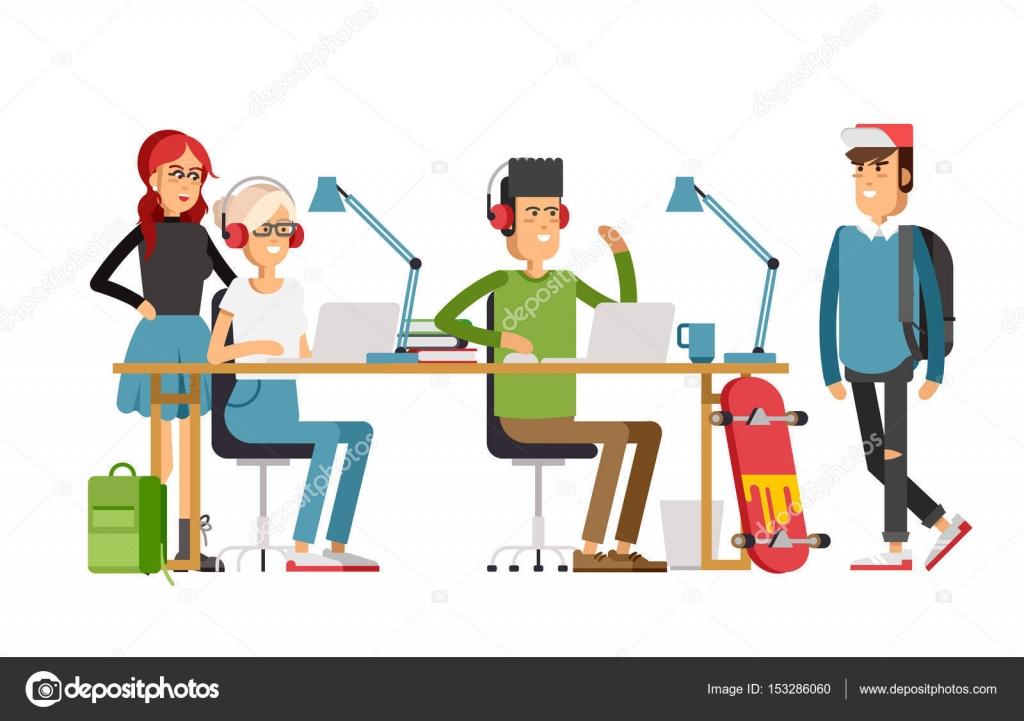 Imagenes De Personas Trabajando En Equipo: Dibujos: Personas Trabajando En Comunidad