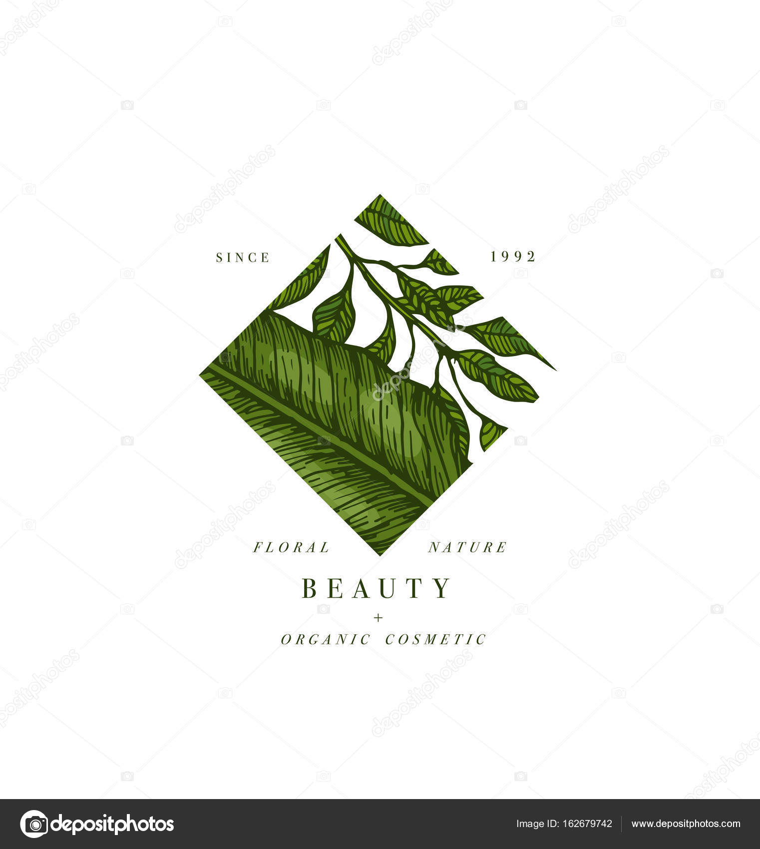 Simple Logo Collection Engraved Logotype Set Tropical Beauty Salon