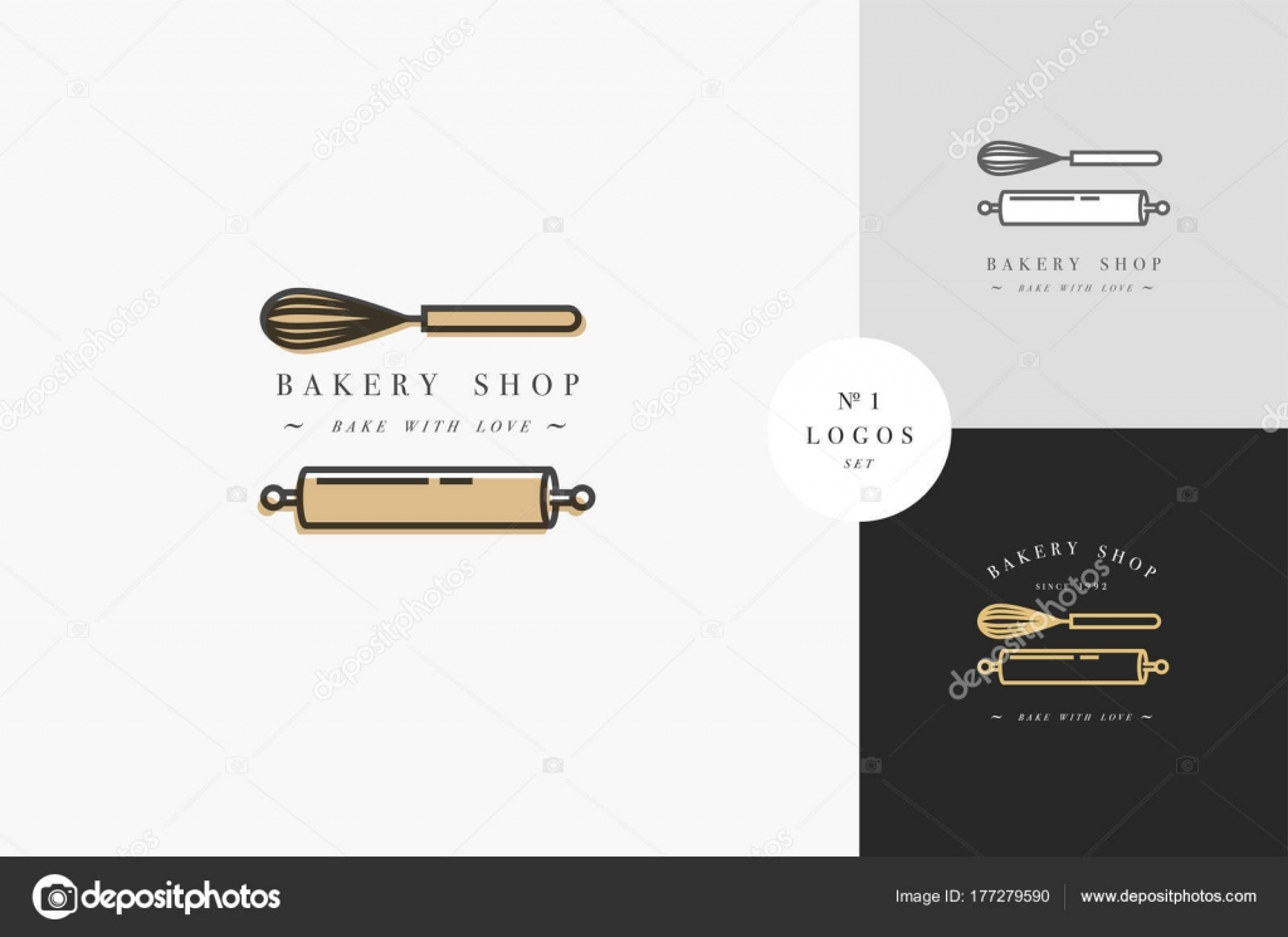 Vector de plantilla de diseño y emblema - rodillo de cocina y ...