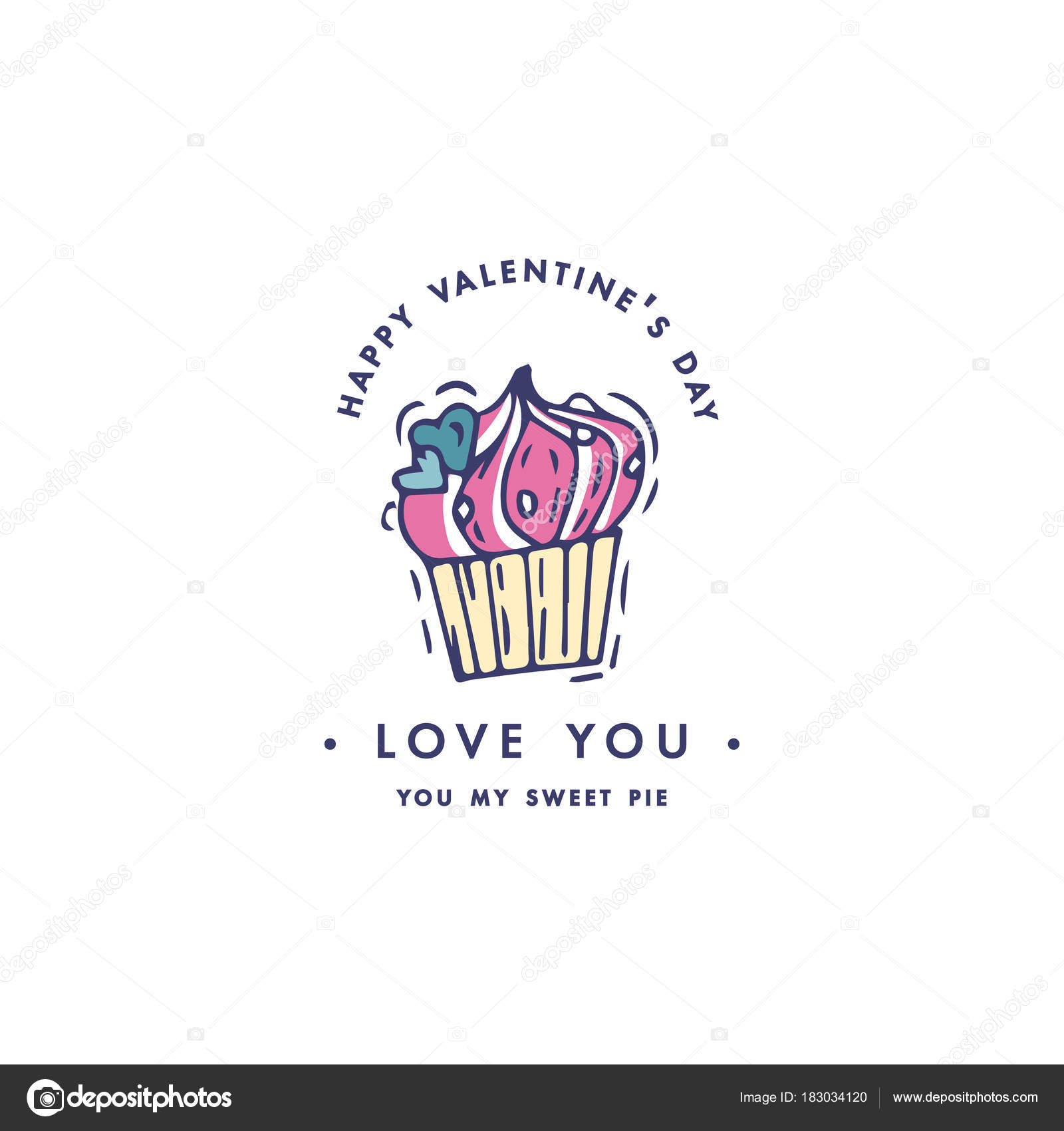 Happy Valentines Day Typography Greetings Love Quotes Sketch