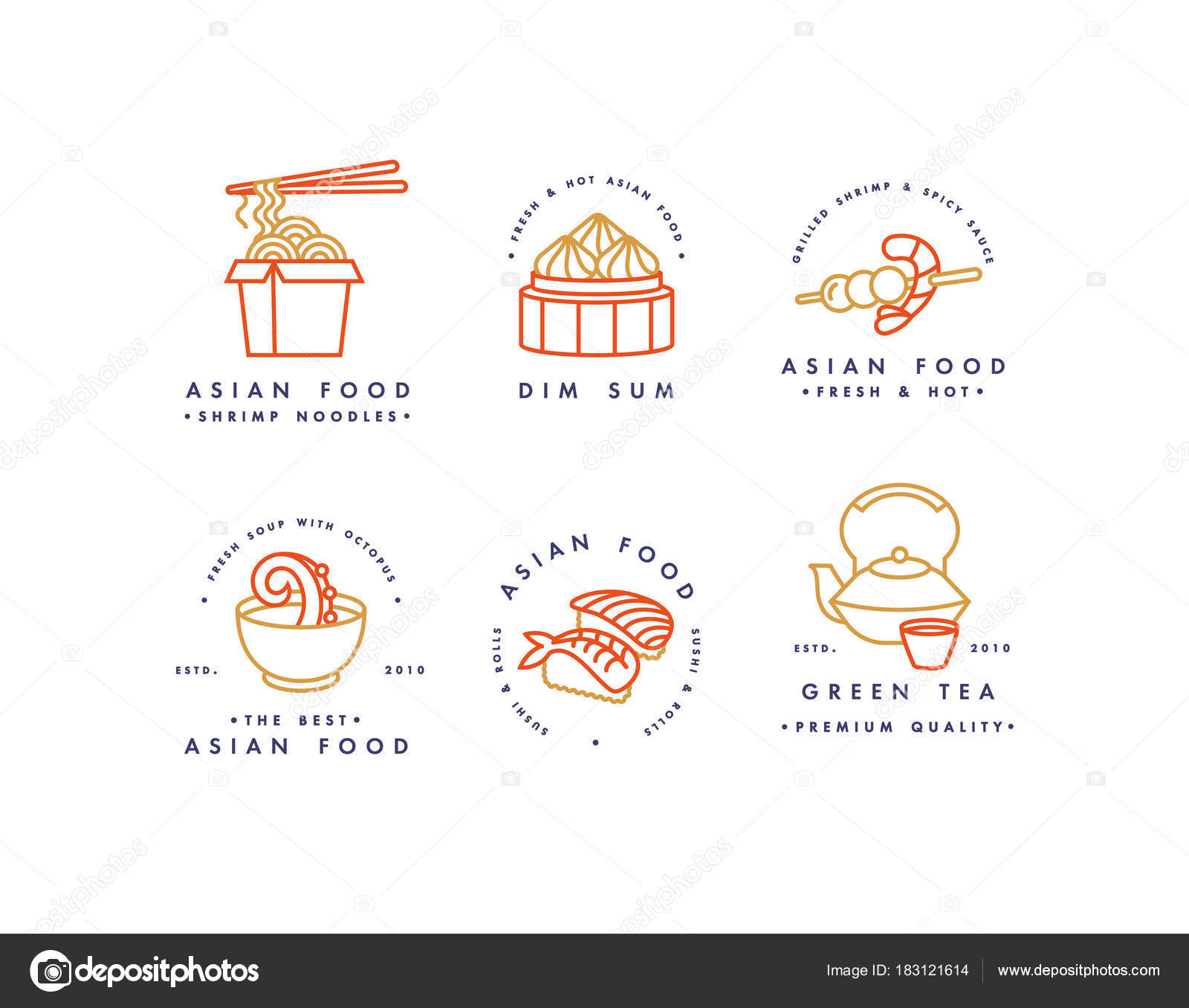 ᐈ dim sum stock vectors royalty free dim sum illustrations download on depositphotos https depositphotos com 183121614 stock illustration vector set of logo design html