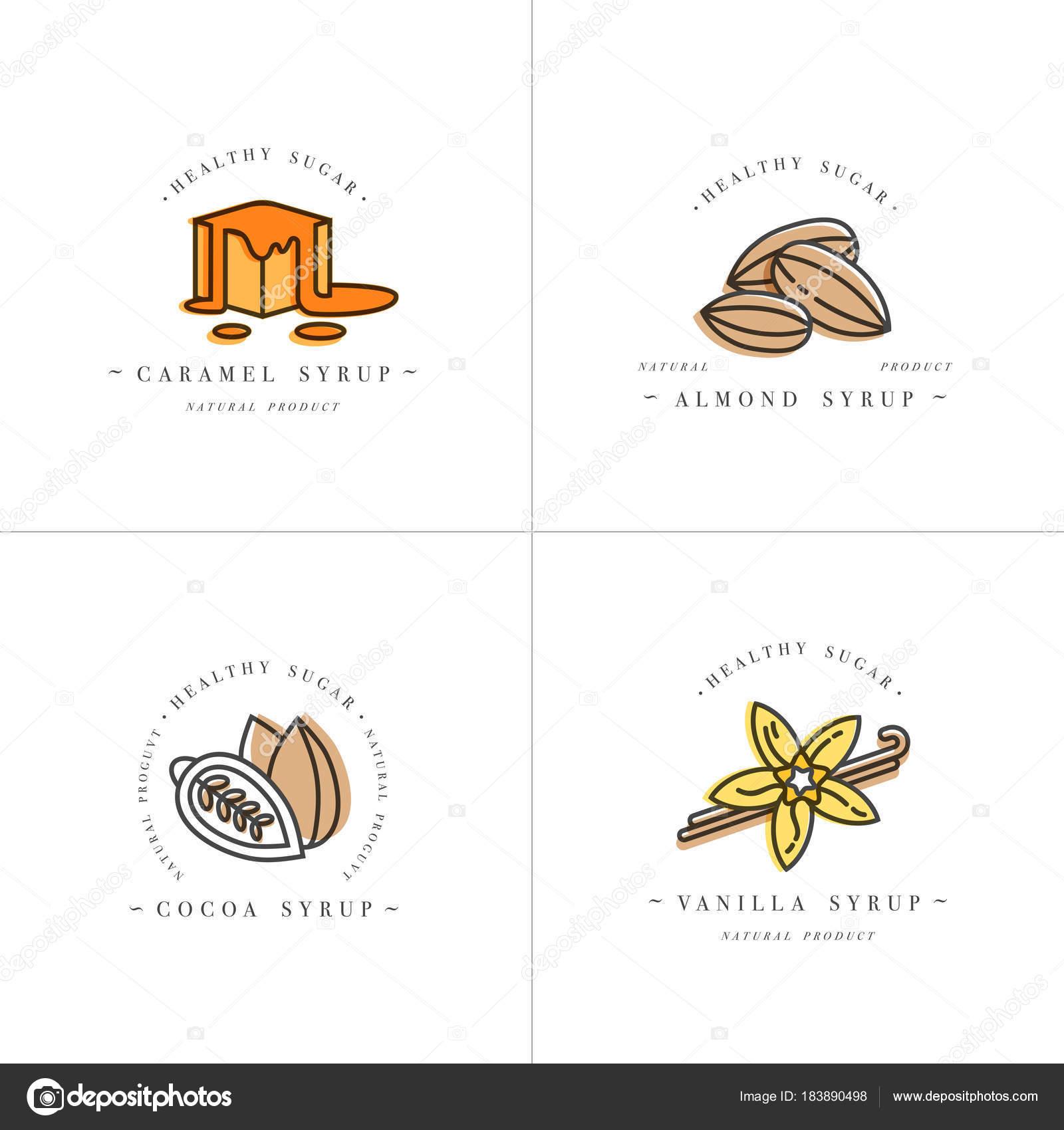 Vektor setzen bunte Vorlagen Logo Design und Embleme - Sirupe und ...