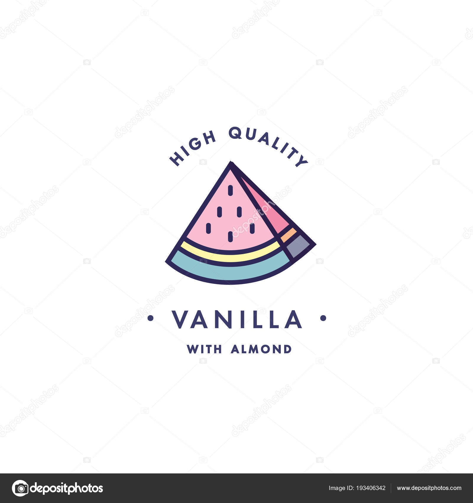 design template logo and emblem taste and liquid for vape