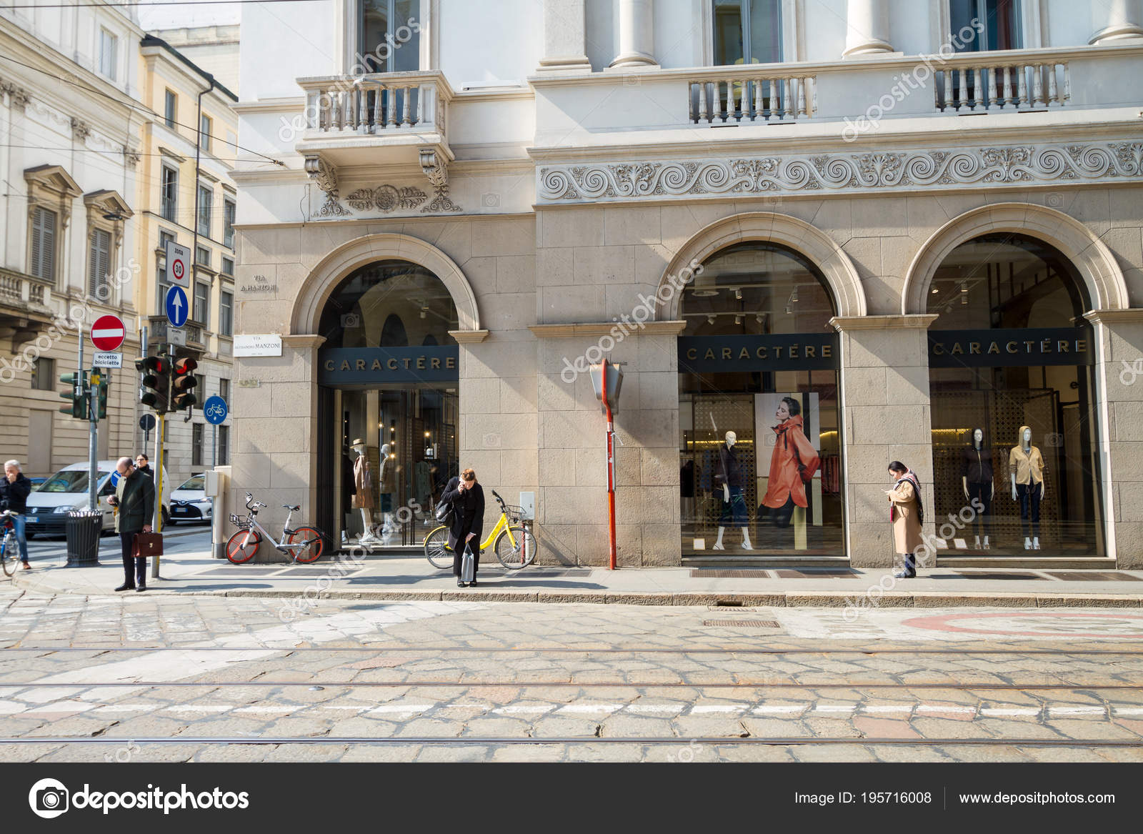 online store 715e3 0c7f2 Milan: Window of Fashion shop Dolce & Gabbana, Italy – Stock ...