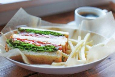 delicious sandeich in cafe