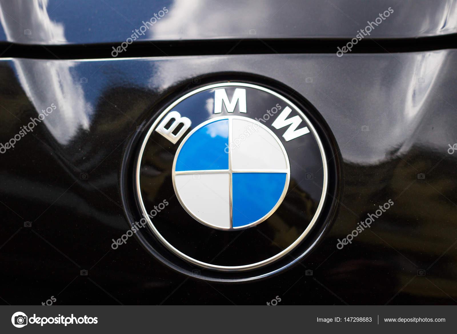 Poland Warsaw 25 May 2016 Bmw Logo On A Black Bmw Car Stock