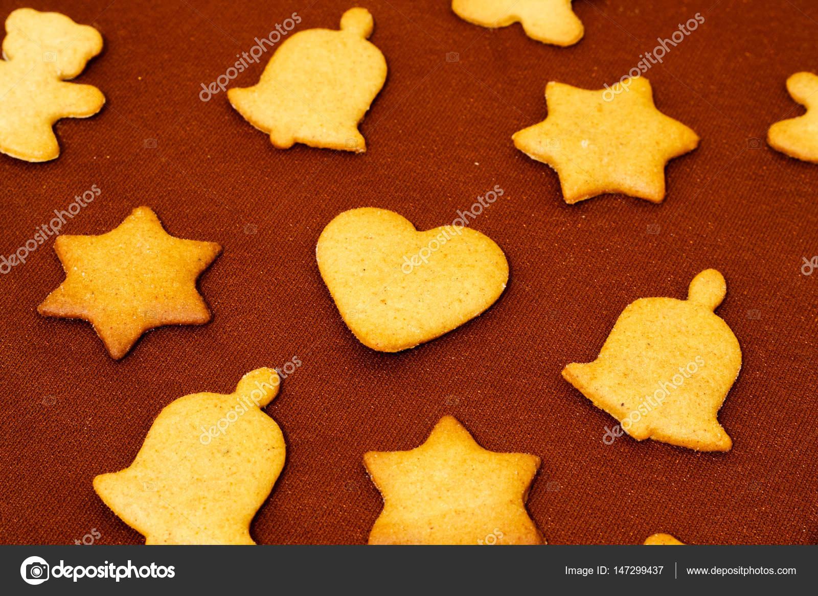 Braune Weihnachtskekse.Weihnachten Deko Lebkuchen Braune Schokolade Backgr Stockfoto