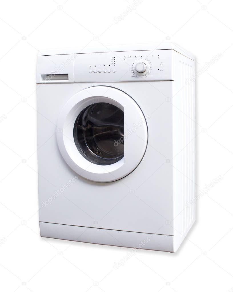 Stock Lavatrici Usate.Lavatrice Usate Bianco Isolato Su Priorita Bassa Bianca