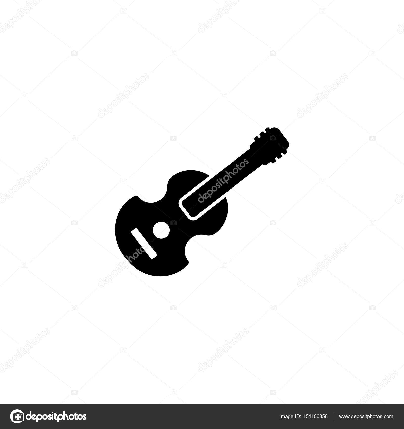 pictogram acoustic guitar icon black icon on white background rh depositphotos com acoustic guitar vector free download acoustic guitar vector free download