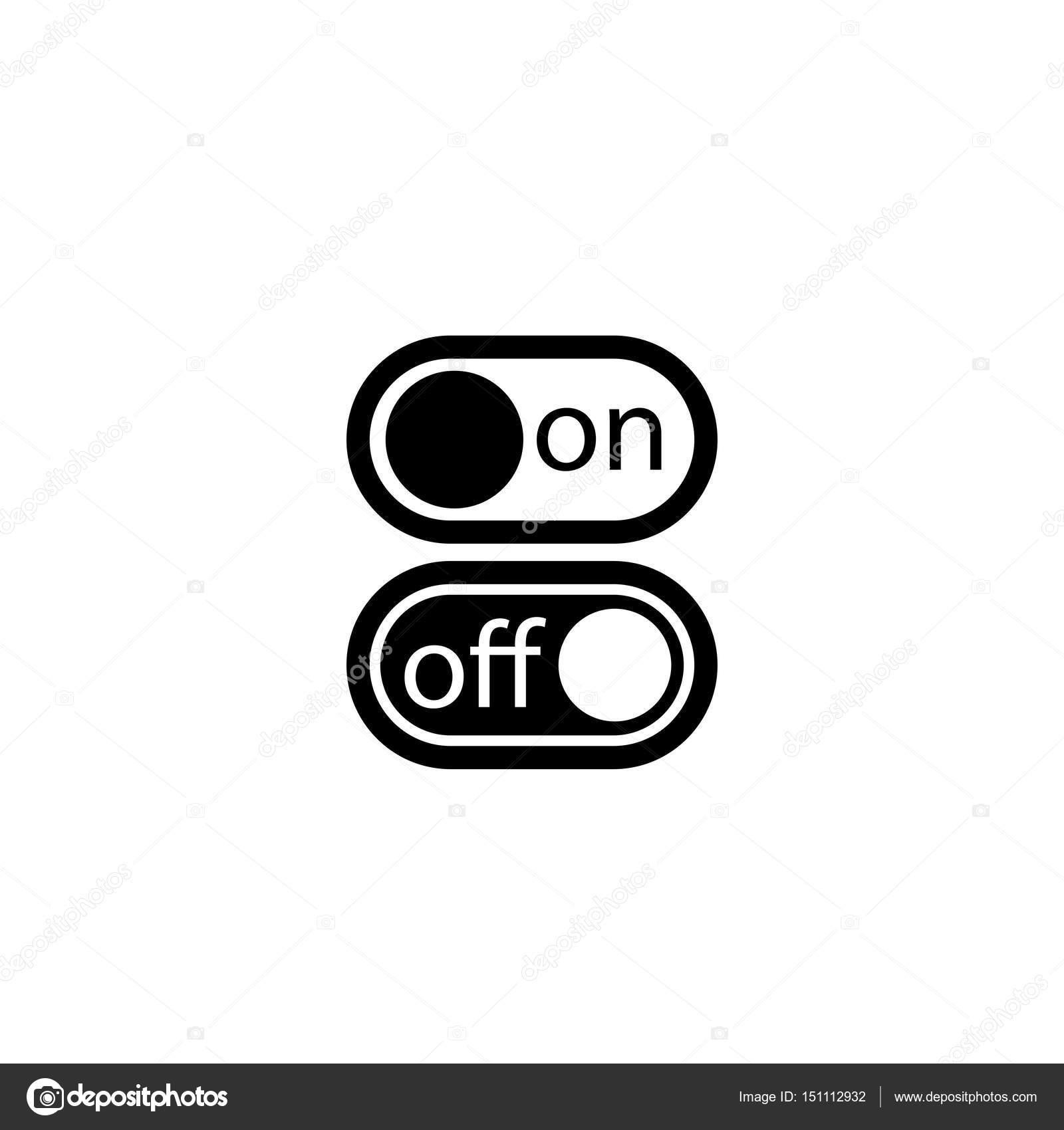 Piktogramm-Taste ein- und Ausschalten-Symbol. Schwarzem Symbol auf ...
