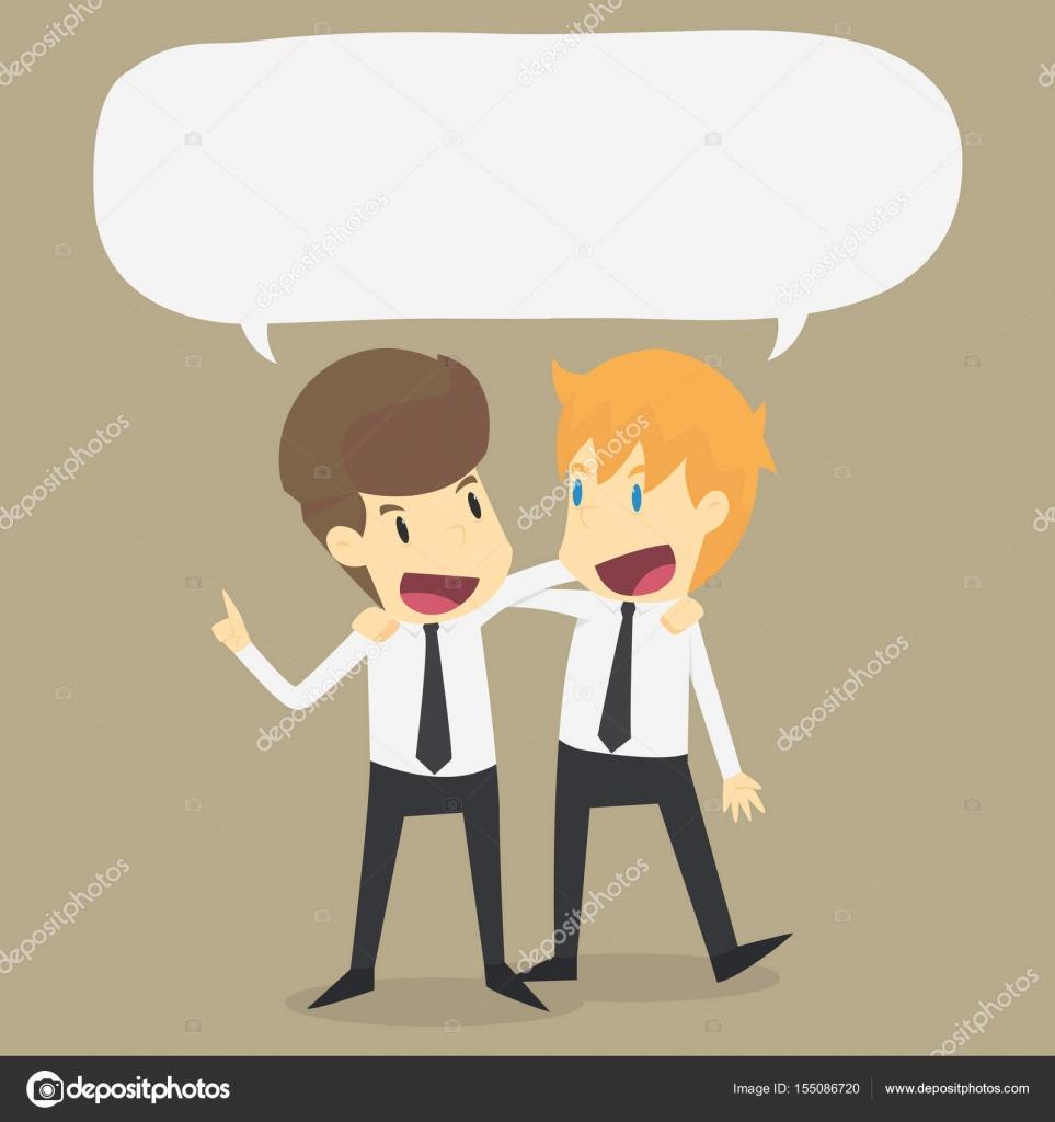 Rozmawia z przyjaciółmi