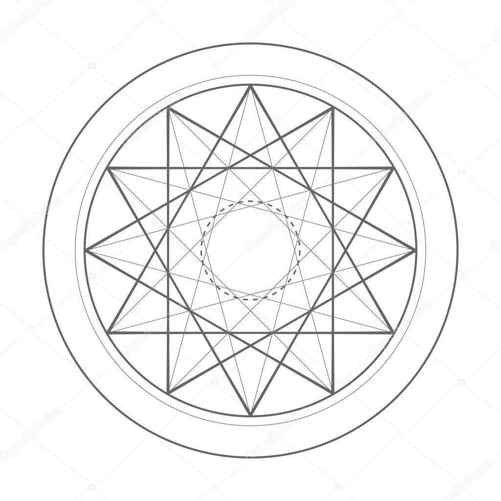 sacred geometry symbol illustration