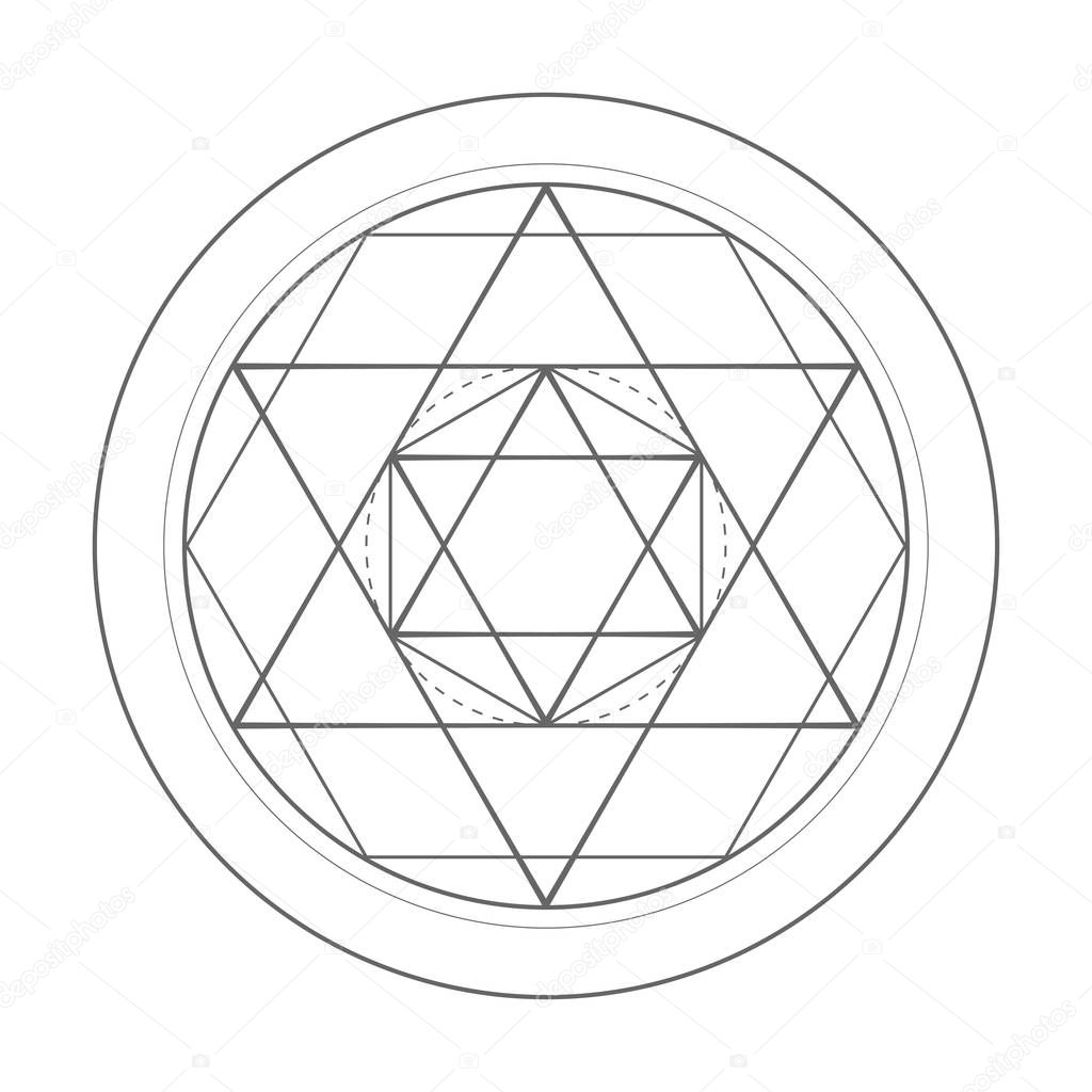 sacred geometry symbol illustration. Vector star