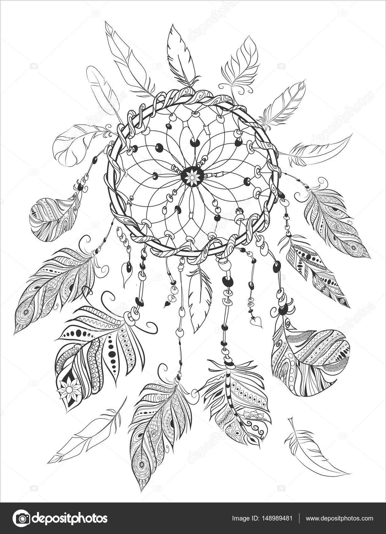Dreamcather Disegni Da Colorare Per Adulti Da Colorare Elementi