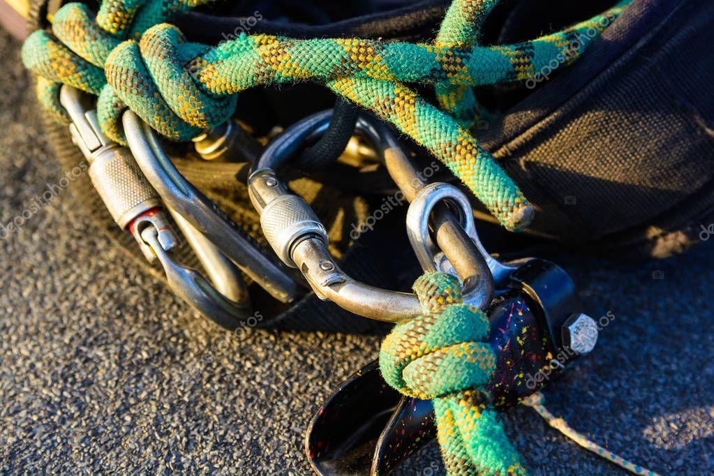 Kletterausrüstung Industrie : Industrielle kletterausrüstung hautnah u stockfoto greentellect