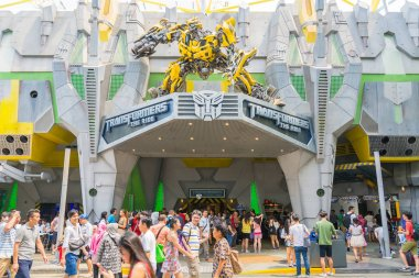 SINGAPORE - JULY 20,2015 : TRANSFORMERS The Ride: The Ultimate 3