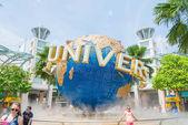 Singapur – 20. července: Turisté a Návštěvníci zábavního parku s pic