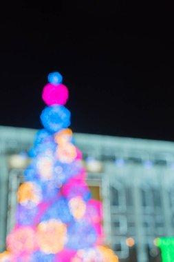 Christmas bokeh light background abstract