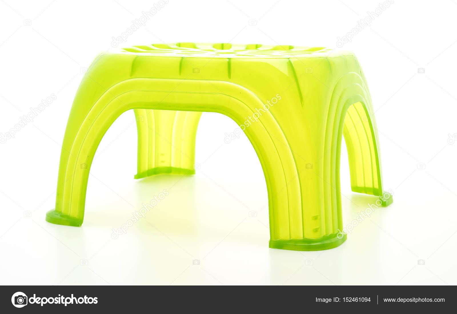 Piccolo sgabello di plastica verde u2014 foto stock © topntp #152461094