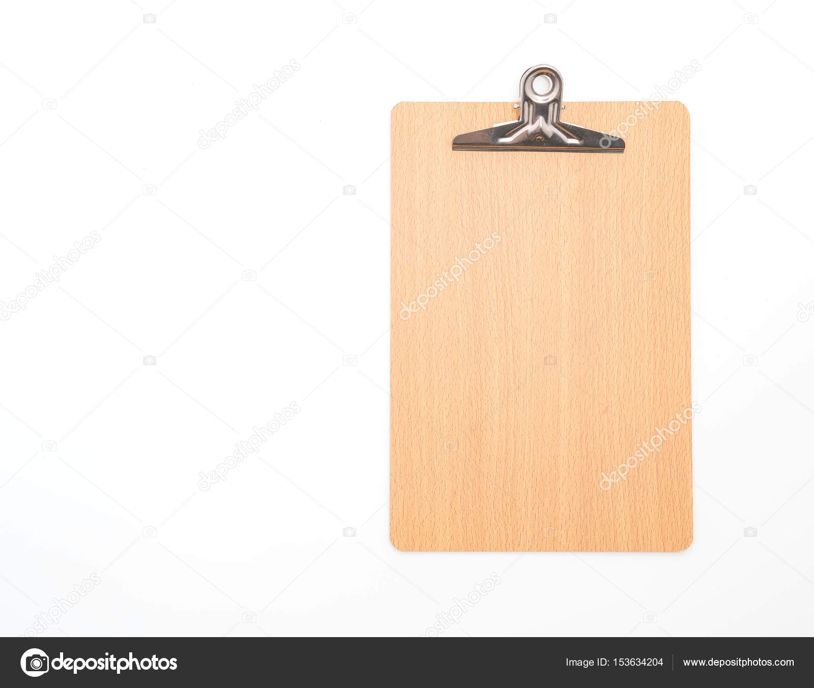 wooden clipboard on white background stock photo topntp 153634204