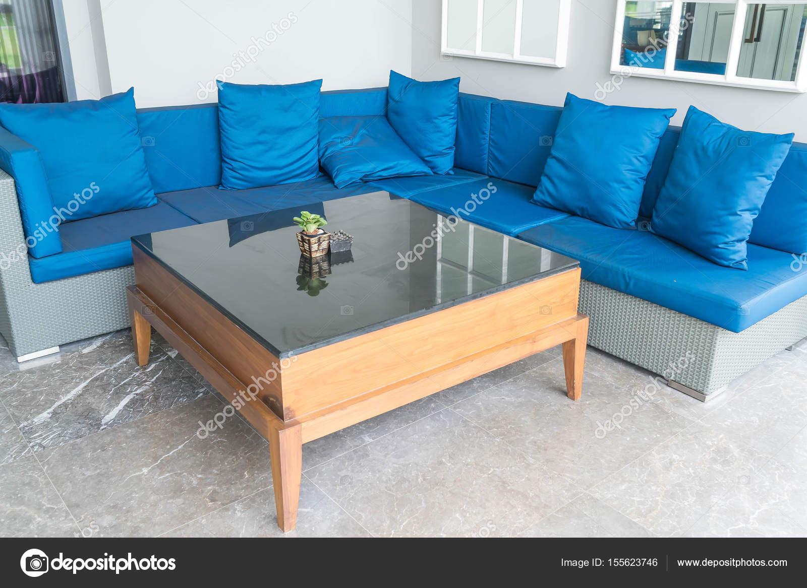 Schöne Luxus Kissen Auf Sofa Dekoration Im Wohnzimmer Interio U2014 Stockfoto