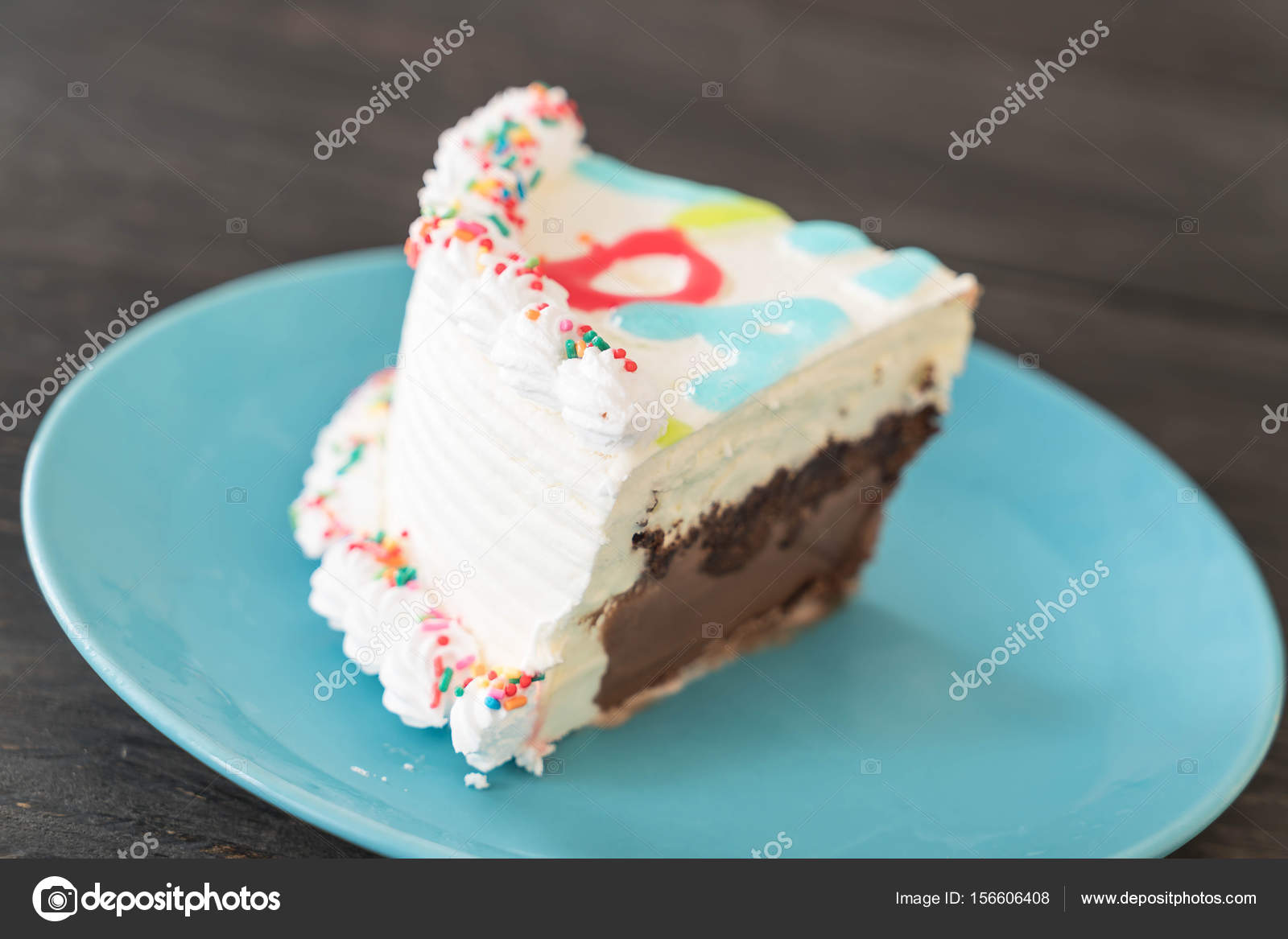 Happy Birthday Ice Cream Cake Stock Photo Topntp 156606408