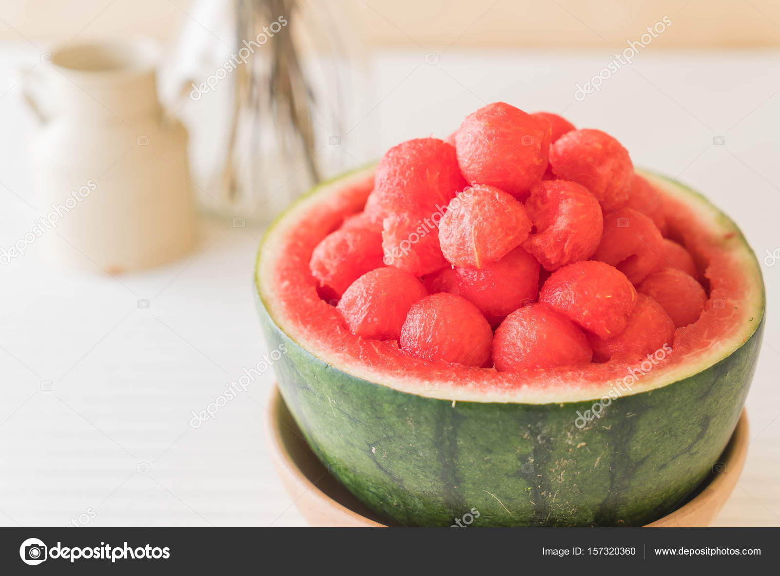 Fresh Watermelon On Table Stock Photo C Topntp 157320360